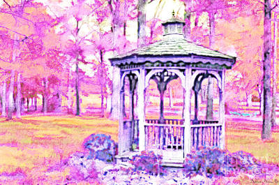 Spring Gazebo Series - Digital Paint  Vi Art Print by Debbie Portwood