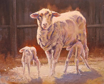 Ovine Painting - Spring Gifts by Mia DeLode