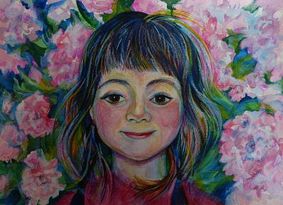 Spring Girls. Part One Art Print by Anna  Duyunova