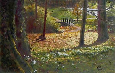 Painting - Spring Glow At  Kailzie Gardens Peebles by Richard James Digance