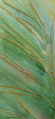 Art Print featuring the painting Spring Grasses by Susan Crossman Buscho