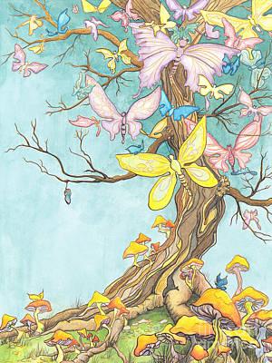 Spring Growth Art Print by Priscilla  Jo