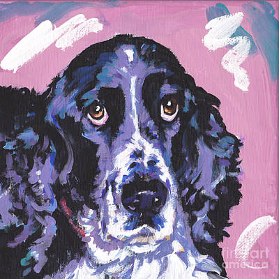 Dog Portrait Painting - Spring Has Sprung by Lea S