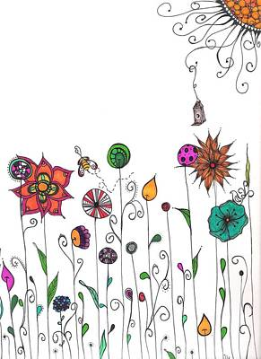 Lori Thompson Drawing - Spring Has Sprung by Lori Thompson