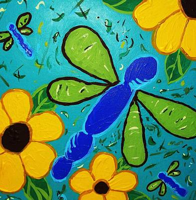 Art Print featuring the painting Spring Has Sprung by Yshua The Painter