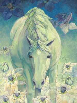 Spring Horse Art Print by Tracie Thompson