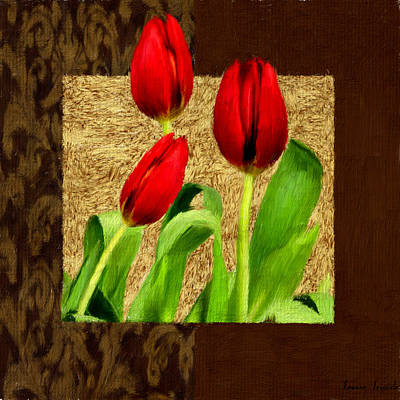 Tulips Digital Art - Spring Hues by Lourry Legarde