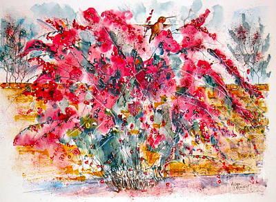 Painting - Spring Hummingbird by Mona Mansour Jandali