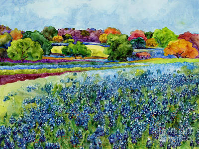 Seasonal Painting - Spring Impressions by Hailey E Herrera