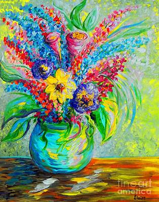Surreal Painting - Spring In A Vase by Eloise Schneider