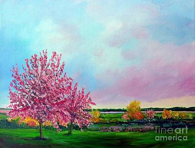 Painting - Spring In Bloom by Julie Brugh Riffey