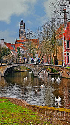 Photograph - Spring In Bruges by Elvis Vaughn