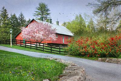Barn Digital Art - Spring In Clarks Valley by Lori Deiter