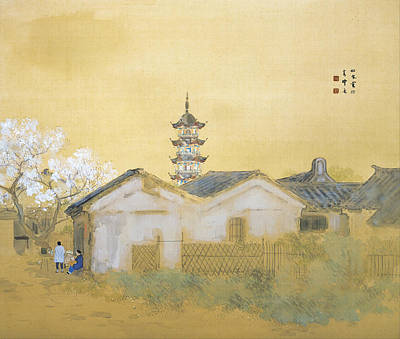 Cherry Blossoms Painting - Spring In Jiangnan by David Mark