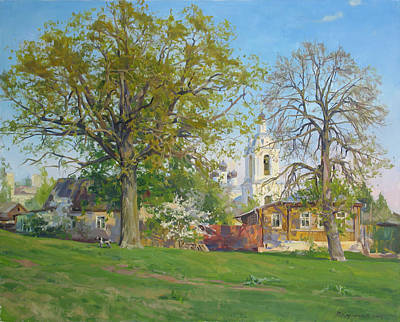 Lanscape Painting - Spring In Kaluga by Victoria Kharchenko