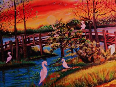 Art Print featuring the painting Spring In Lutz Florida by Yolanda Rodriguez