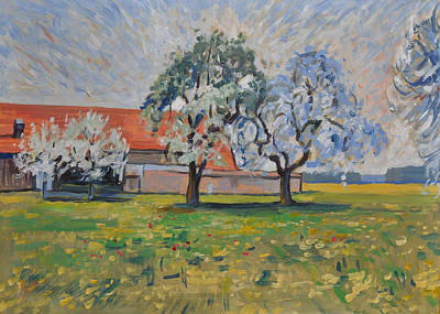 Impressionist Painting - Spring In Moergestel by Nop Briex