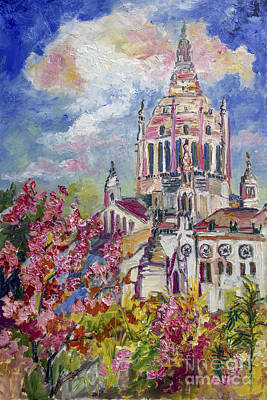 Painting - Spring In Normandy France Basilica Of St. Therese Of Lisieux  by Ginette Callaway