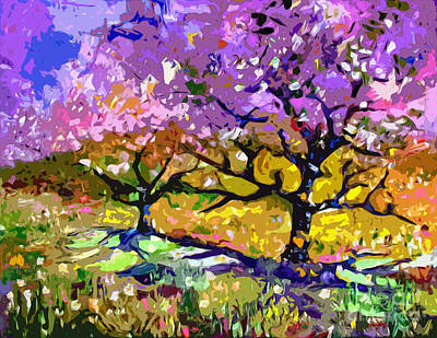 Painting - Spring In Provence Modern Tree Landscape by Ginette Callaway