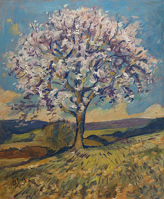 Hill Painting - Spring In South Limburg by Nop Briex