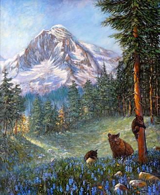 Spring In The Cascades Art Print by Charles Munn