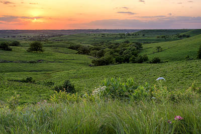 Art Print featuring the photograph Spring In The Flint Hills by Scott Bean