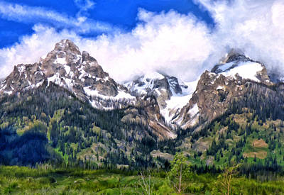 Painting - Spring In The Grand Tetons by Michael Pickett