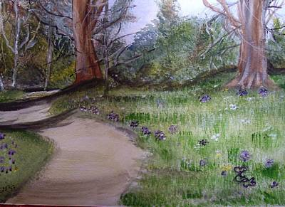 Painting - Spring In The Park by Carole Robins