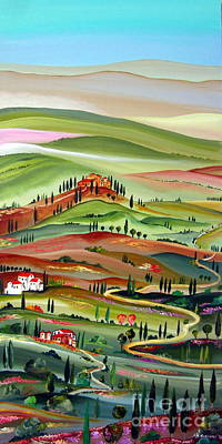 Roberto Painting - Spring In Val D Orcia Toscana by Roberto Gagliardi