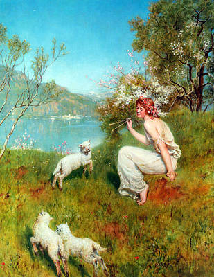 Spring Art Print by John Collier