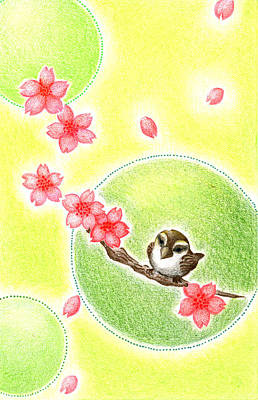 Art Print featuring the drawing Spring by Keiko Katsuta