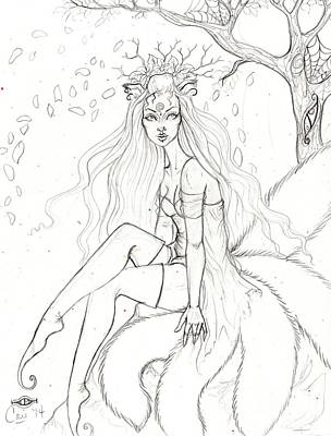 Spring Kitsune Print by Coriander Shea