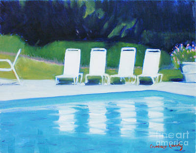 Lake Low Country Painting - Spring Lake Pool by Candace Lovely