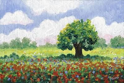 Impressionistic Landscape Painting - Spring Landscape by Linda Mears