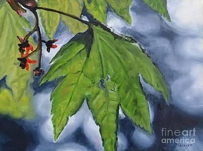 Spring Leaf Original by Lori Pittenger