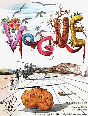 White Background Photograph - Spring Letters With A Visage Of Dali by Salvador Dali