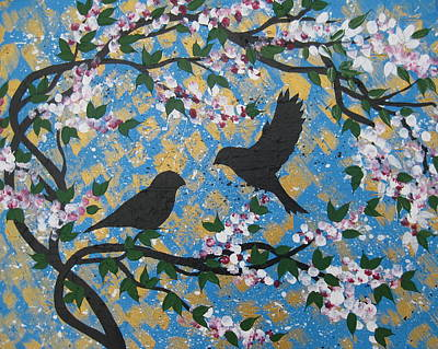 Sakura Painting - Spring Love by Cathy Jacobs