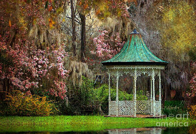 Art Print featuring the photograph Spring Magnolia Garden At Magnolia Plantation by Kathy Baccari