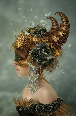Phantasie Digital Art - Spring Masquerade by Cassiopeia Art