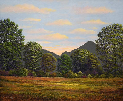 Painting - Spring Meadow At Sutter Buttes by Frank Wilson