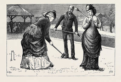 Spring Meeting Of The All England Croquet Club At Wimbledon Print by English School