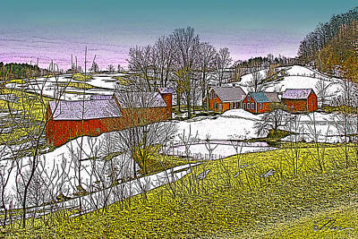 Digital Art - Spring Melt At Jenne Farm by Nancy Griswold