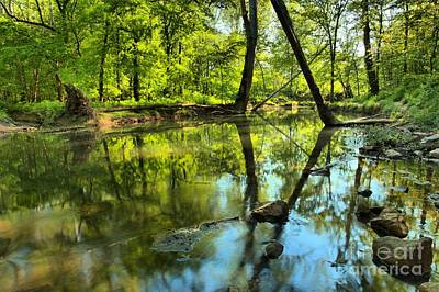 Photograph - Spring Mill Reflections by Adam Jewell
