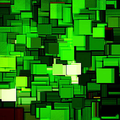 Spinach Digital Art - Spring Modern Abstract Xiv by Lourry Legarde
