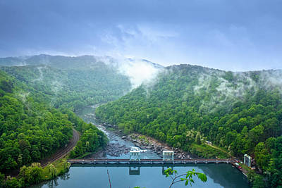 Photograph - spring morning at Hawks Nest Dam by Mary Almond