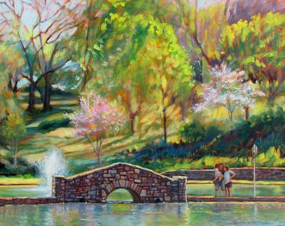 Lobby Art Painting - Spring Morning by Bonnie Mason