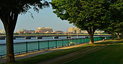 Spring Morning By The Charles River Art Print