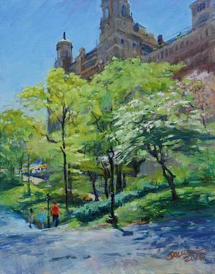 Spring Morning In Central Park Art Print