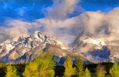 Wyoming Painting - Spring Morning In The Tetons by Dan Sproul