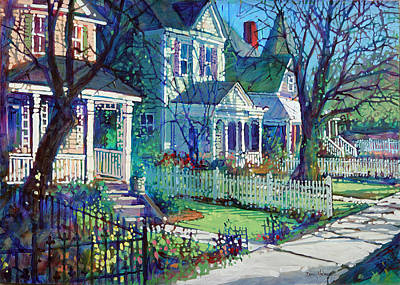 Spring Morning On East Street Art Print